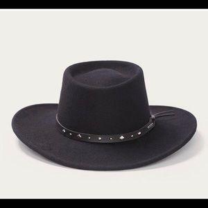 Stetson black wool hat